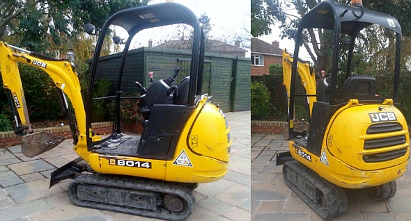 mini digger hire sutton coldfield west midlands